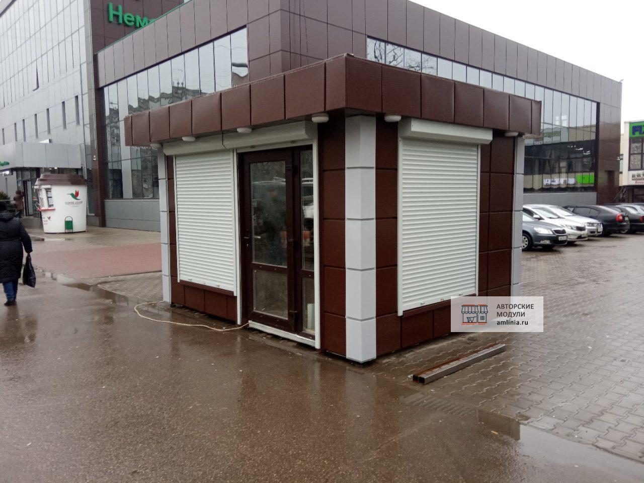 Павильон двухмодульный минимагазин, размеры 5,0 х 5,0 х 2,87 метра