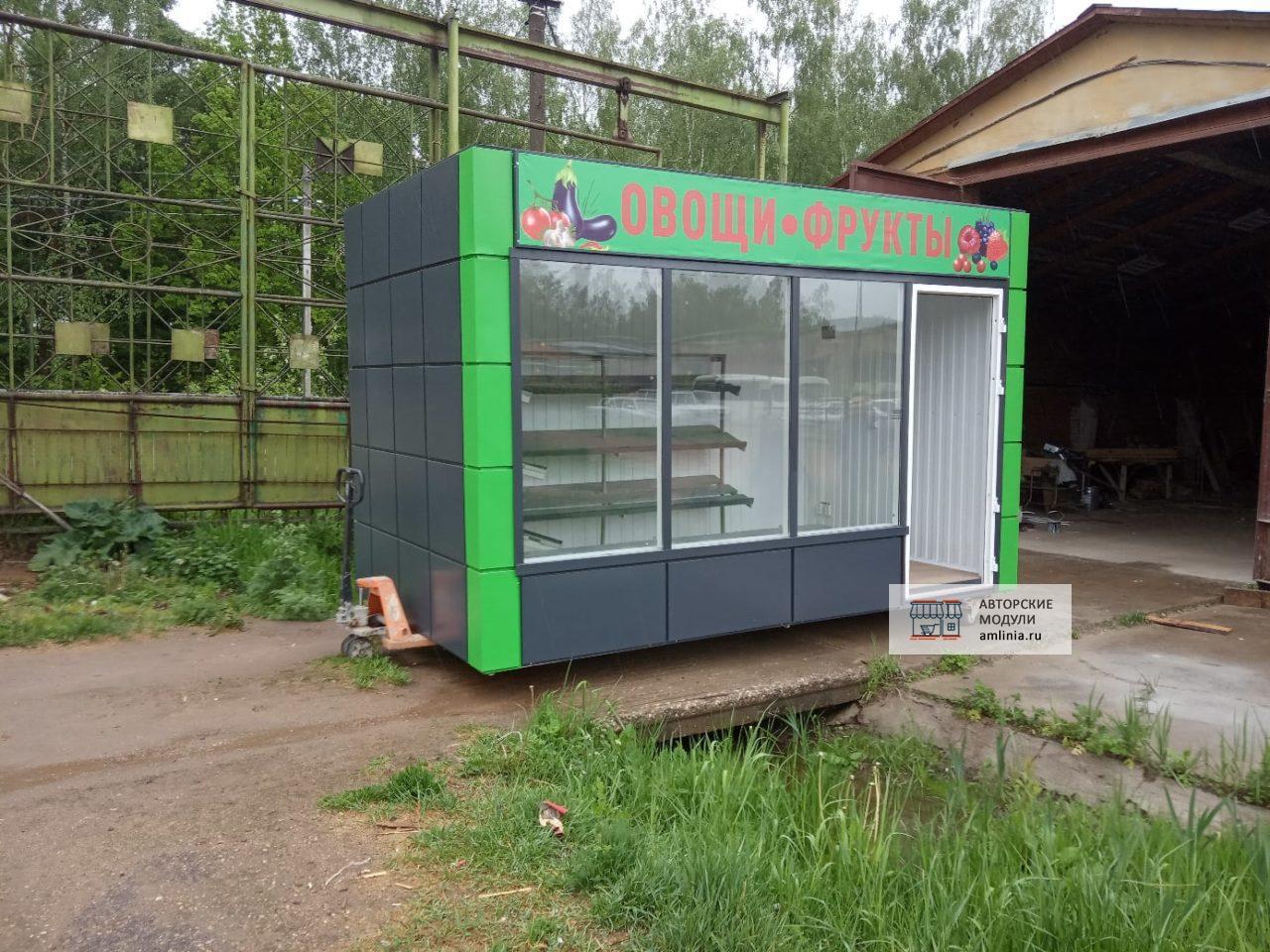 Павильон одномодульный овощной со входом, размер 2.87 х 2.49 х 4.49 метра